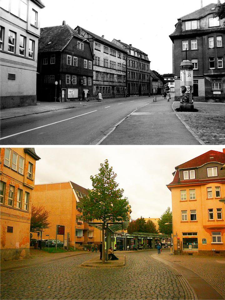 An der Weiße um 1980 und Oktober 2014