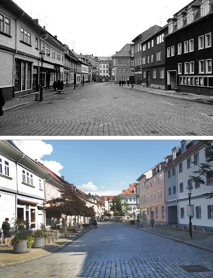 Hier, wie angekündigt, der Vergleich Holzmarkt um 1985 und 2017.