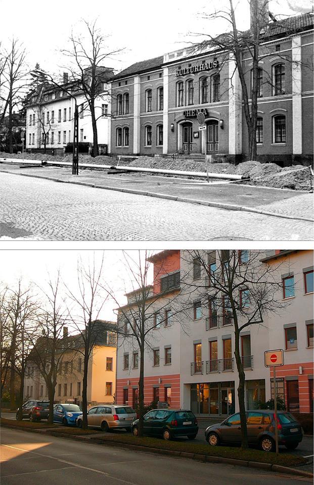 So sah es um 1980 und im Februar 2015 in der Lindenallee aus. Da werden Erinnerungen wach